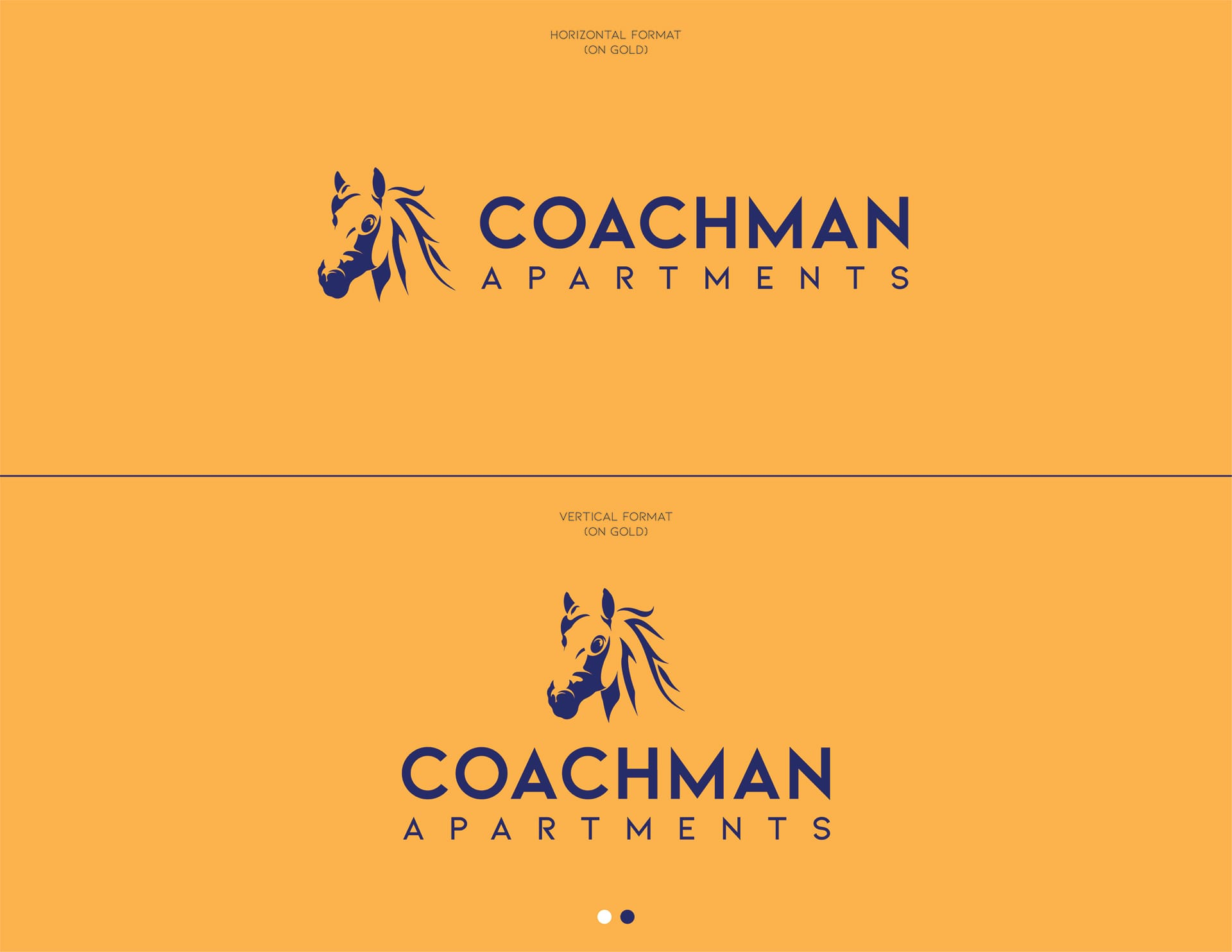 Coachman Logo Design - On Gold