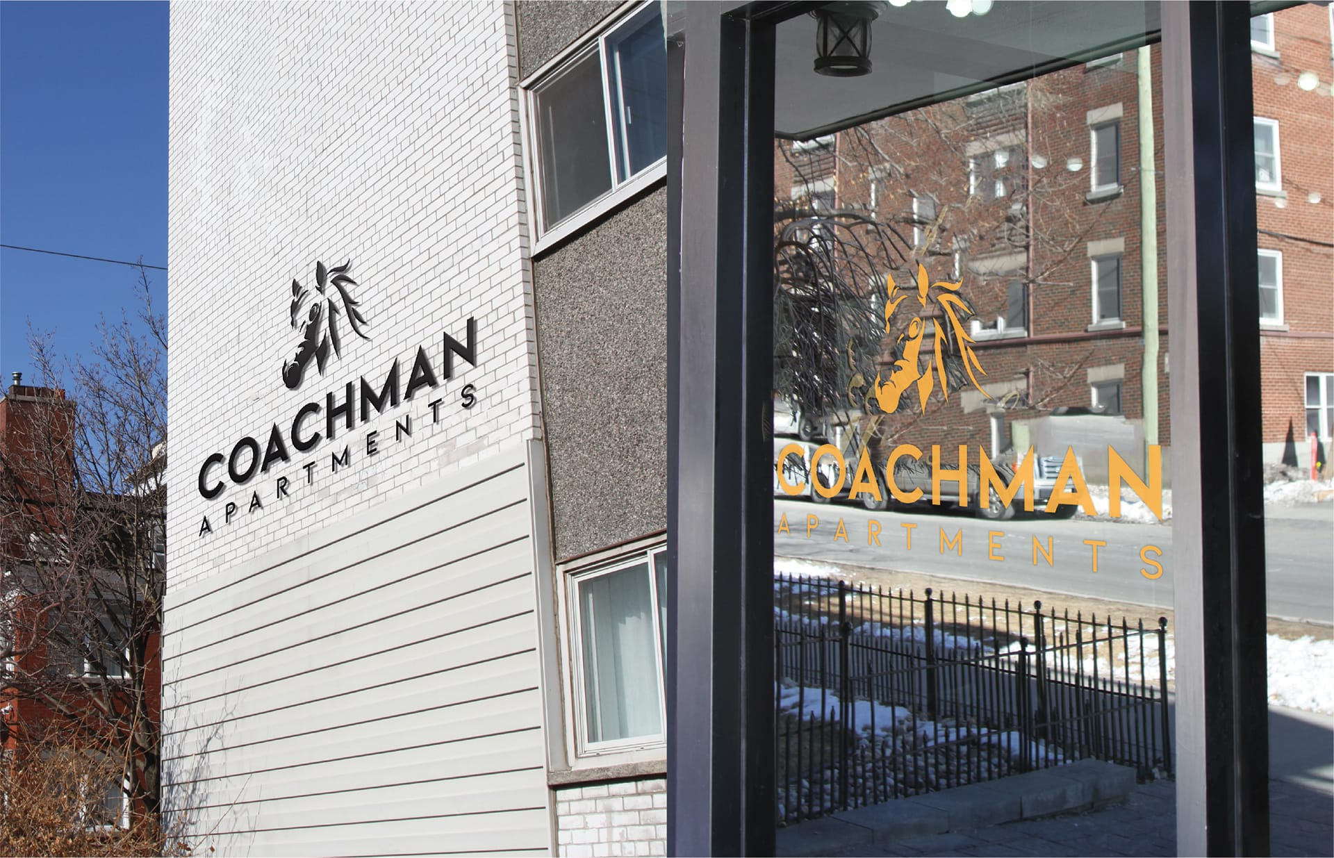 Coachman Logo Design - Building & Window Sign