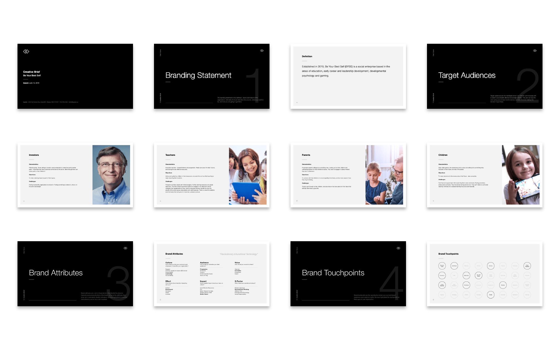 BYBS - Creative Brief Layout